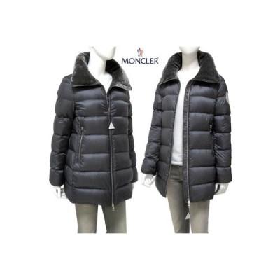 モンクレール MONCLER レディース アウター ダウン ジャケット コート TORCON ネック部分ベルベット・ベルベットロゴワッペン付きダウンコート 灰 (R178200)