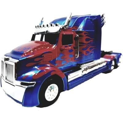 【ジェイダトイズ】 Jada Transfomers Blue & Red Western Star 5700 XE Phantom Optimus Prime 1/32 Scale Diecst Truck 輸入品