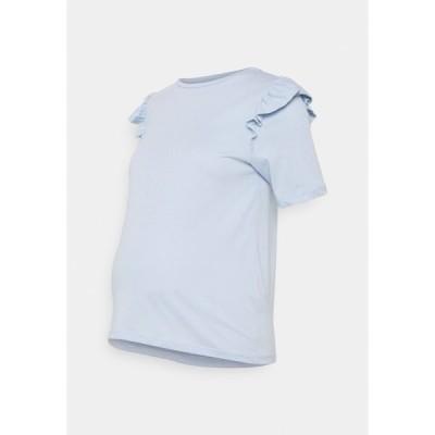 ピーシーズ マタニティ Tシャツ レディース トップス PCMTILDE - Basic T-shirt - kentucky blue