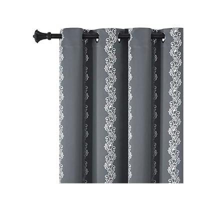 Estelar Textiler Elegant Silver Vine Blackout Curtains Window Drapes Therma