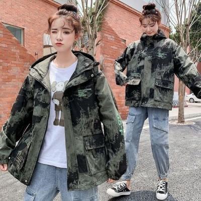 ジャンパー レディース おしゃれ 韓国 10代 20代 高校生 ファッション チェック柄 タータン 大きいサイズ アウター パーカー 2060