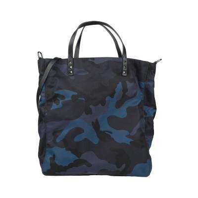 VALENTINO GARAVANI ハンドバッグ ダークブルー 紡績繊維 / 革 ハンドバッグ