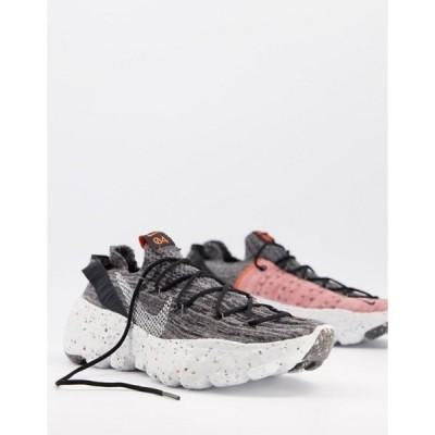 ナイキ メンズ スニーカー シューズ Nike Space Hippie 04 Flyknit sneakers in gray