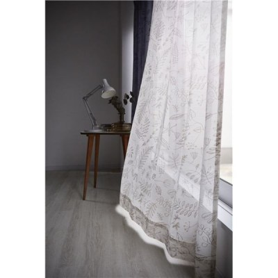 レースカーテン 〔100×133cm アイボリー〕 サーナヤオッリ ブロッサムボイル 〔リビング〕〔代引不可〕