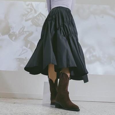 レディース スカート Shirred Fresh Long Skirt