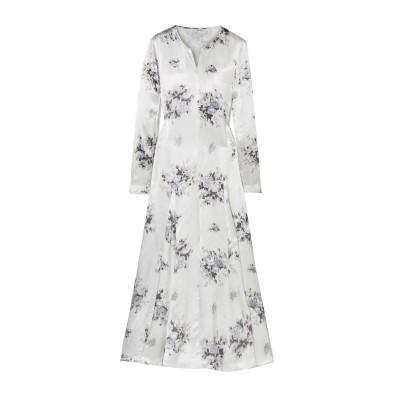 ガニー GANNI ロングワンピース&ドレス ホワイト 34 レーヨン 100% ロングワンピース&ドレス