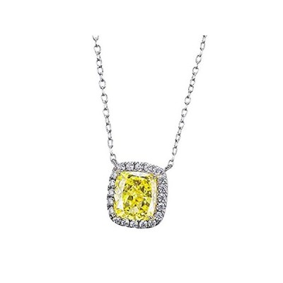Yellow Clear Pink Moissanite Solid 10K 14K 18K White Gold Silver Luxury Fas好評販売中