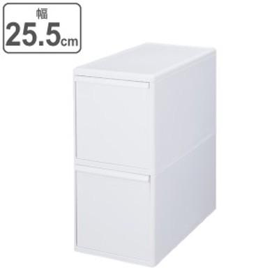 ゴミ箱 40L 2段 分別 引き出しステーション ワイド 幅25.5cm キッチン 収納 ( ごみ箱 40リットル 隙間 25.5cm 引き出し キャスター 隙間