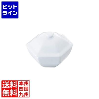 白磁 六角蓋物 中 464008