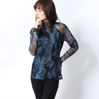 デシグアル Desigual Tシャツ長袖 TRESOR (ブルー)