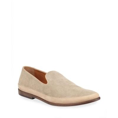 ジョンバルベイトス メンズ スリッポン・ローファー シューズ Men's Amalfi Slip-On Suede Loafers