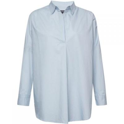 フレンチコネクション French Connection レディース ブラウス・シャツ オーバーシャツ トップス Rhodes Poplin Pop Over Shirt Blue
