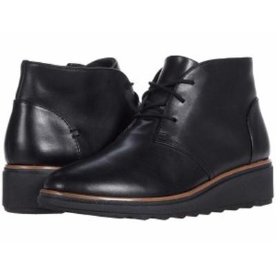 クラークス レディース ブーツ・レインブーツ シューズ Sharon Hop Black Leather