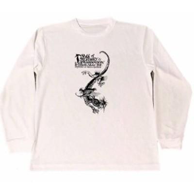 アーサー・ラッカム ドラゴン 龍 ドライ Tシャツ エドガー・アラン・ポー 表紙 グッズ 辰年  ロング Tシャツ ロンT 長袖