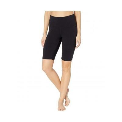 "Jockey Active ジョッキーアクティブ レディース 女性用 ファッション ショートパンツ 短パン 10"" High-Waist Sculpting Bike Shorts - Black"
