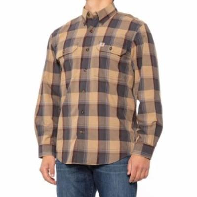 カーハート Carhartt メンズ シャツ シャンブレーシャツ トップス 104447 Plaid Chambray Shirt - Long Sleeve Dark Khaki Plaid