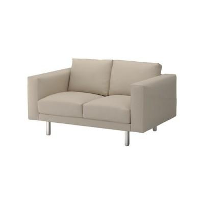 IKEA・イケア 二人掛けソファ エードゥム ベージュ/メタル ベージュ (392.400.99)