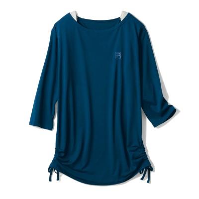 宅トレやリラックスウェアとしても◎レイヤード風7分袖Tシャツ【UVケア・吸汗速乾】(フィラ/FILA)