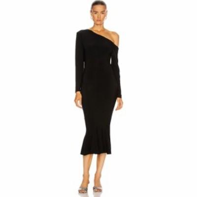ノーマ カマリ Norma Kamali レディース ワンピース ドロップショルダー ワンピース・ドレス long sleeve drop shoulder fishtail dress