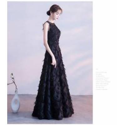 ドレス ワンピース ロング丈 ノースリーブ ブラック 30代 上品 きれいめ 春夏 結婚式 お呼ばれ a694