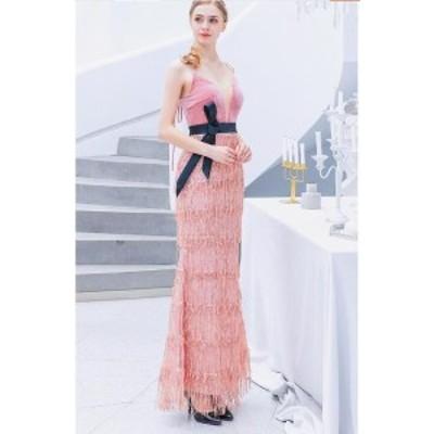 イブニングドレス ロングドレス 優雅 春新作品 大人気 パーティードレス ピアノ発表会 披露宴 結婚式 二次会 ピンク系 演奏会 花柄 豪華