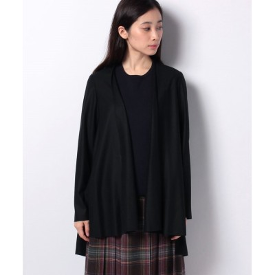 【レリアン】 ラフデザインジャケット レディース ブラック 9 Leilian