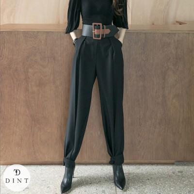 「DINT」 ★送料無料★P2305 ボタン·ポイント·パンツ セレブ系オフィススタイル 韓国ファッションブランドDINTのオシャレなオフィススタイル提案!