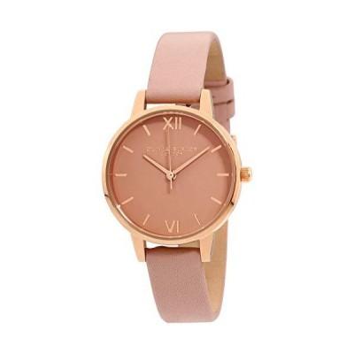 Olivia Burton London レディース腕時計 ローズゴールドSSケース&レザー OB16MD77【並行輸入品】