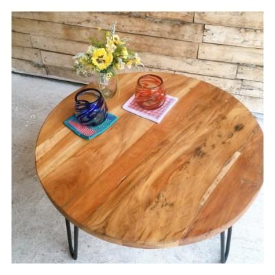 リサイクルウッド ラウンドローテーブル タイプA