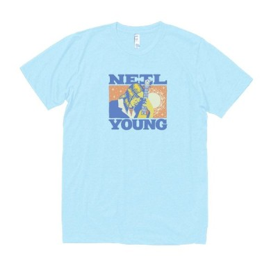 NEIL YOUNG 音楽・ロック・シネマ Tシャツ 水色