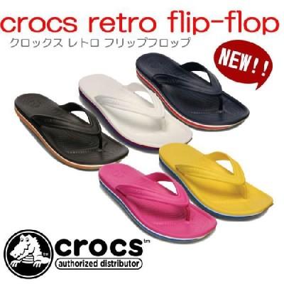 クロックスcrocs crocs retro flip-flop(クロックス レトロ フリップフロップ)【国内正規取り扱い】