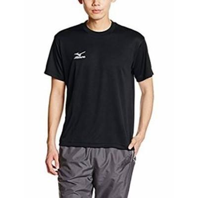 (ミズノ)MIZUNO(ミズノ) トレーニングウェア 半袖Tシャツ Uネック ナビドライ 32JA6150 09 ブラック×ホワイト S
