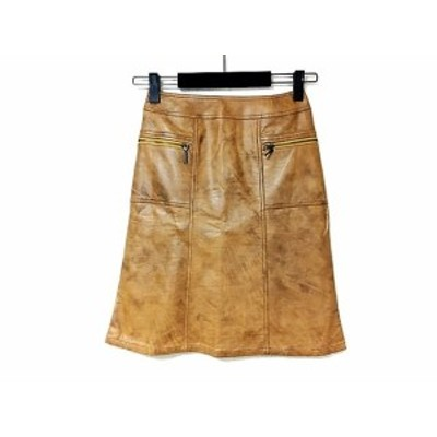 ルーニィ LOUNIE スカート サイズ38 M レディース ブラウン レザー【中古】