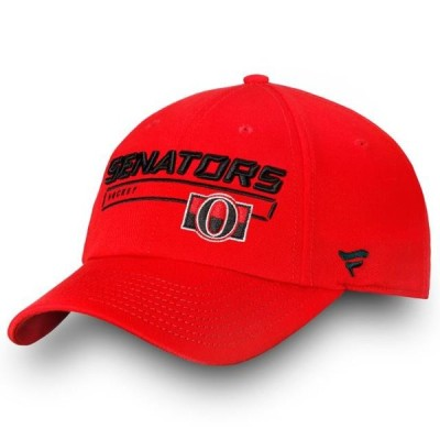 ユニセックス スポーツリーグ ホッケー Ottawa Senators Fanatics Branded Authentic Pro Rinkside Fundamental Adjustable Hat - Red - OSFA