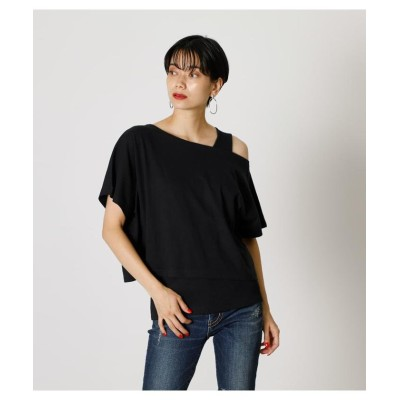 (AZUL by moussy/アズールバイマウジー)LAYERED 3WAY TOPS/レディース BLK