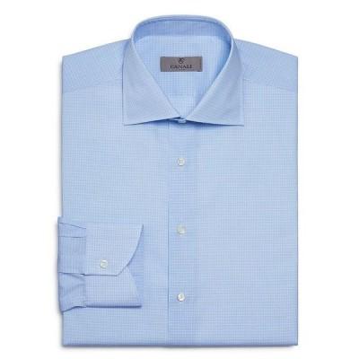 カナーリ メンズ シャツ トップス Mini Grid Check Regular Fit Dress Shirt