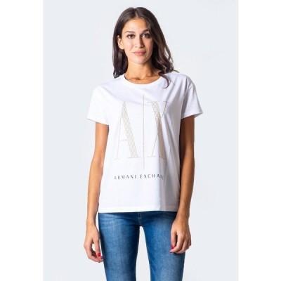 アルマーニエクスチェンジ Tシャツ レディース トップス Print T-shirt - white