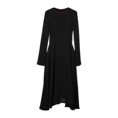 メルシー ..,MERCI 7分丈ワンピース・ドレス ブラック 46 ポリエステル 100% 7分丈ワンピース・ドレス