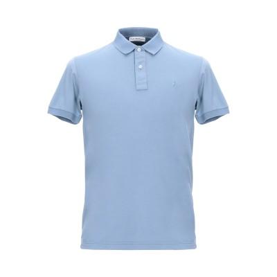 JOHN WELLINGTON ポロシャツ ブルーグレー 48 コットン 90% / ポリウレタン® 10% ポロシャツ