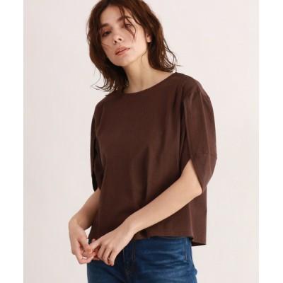 OZOC / [洗える・26(S)/52(LL)WEB限定サイズ]コットンラップスリーブカットソー WOMEN トップス > Tシャツ/カットソー