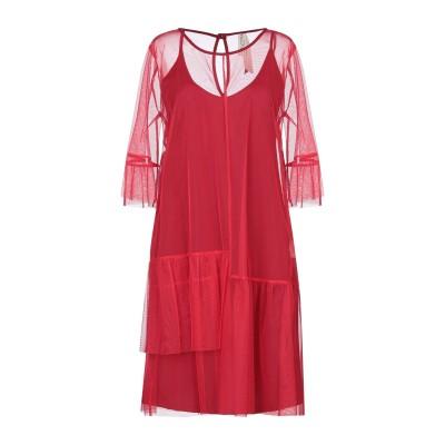 ピアヌラストゥーディ�� PIANURASTUDIO ミニワンピース&ドレス レッド 42 ポリエステル 100% ミニワンピース&ドレス