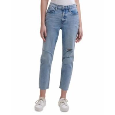 カルバンクライン レディース デニムパンツ ボトムス High-Rise Distressed Ankle Jeans Arizona
