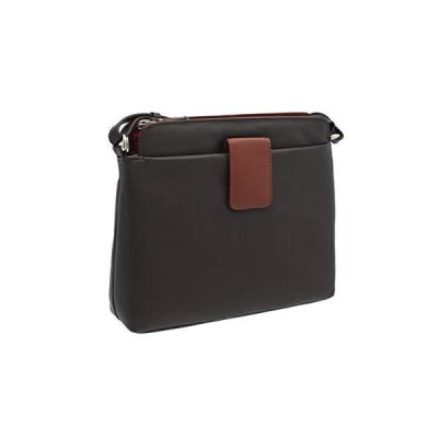 Ashlie Craft Leather Shoulder Bag Style AC8200_ac Brown/Cognac 並行輸入品