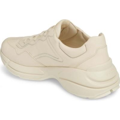 グッチ GUCCI メンズ スニーカー シューズ・靴 Logo Leather Sneaker White Print