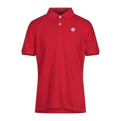 ノースセール NORTH SAILS ポロシャツ レッド M コットン 100% ポロシャツ