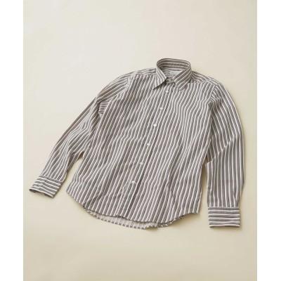 オルタネイトストライプレギュラーカラーシャツ