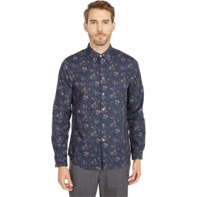 ポールスミス Paul Smith メンズ シャツ トップス Floral Tailored Fit Shirt Navy
