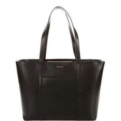 テッドベーカー レディース トートバッグ バッグ Kimiaa East West Leather Top Zip Tote Bag Black