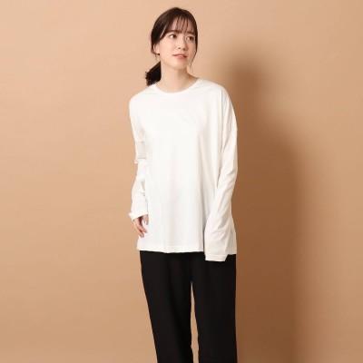 ドレステリア DRESSTERIOR 【CLASSY.5月号掲載】SUVINコットンロングTシャツ (オフホワイト)
