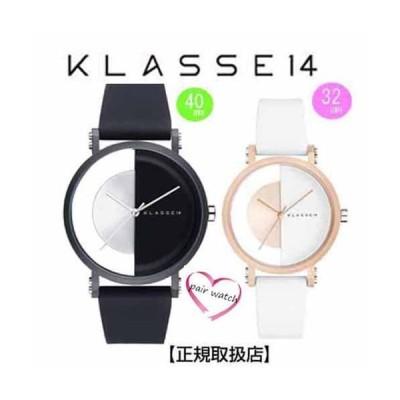 [クラス14]KLASSE14 腕時計 ペアウォッチ Imperfect Black Arch IP Black Case 40mm 32mm ブラックダイヤル (一部透過) IM18BK007M IM18RG007W